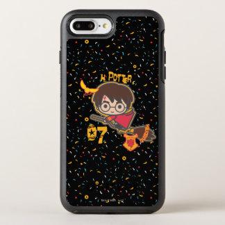 Funda OtterBox Symmetry Para iPhone 8 Plus/7 Plus Buscador de Harry Potter Quidditch del dibujo