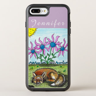 Funda OtterBox Symmetry Para iPhone 8 Plus/7 Plus Caja personalizada del iPhone del Fox el dormir