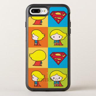 Funda OtterBox Symmetry Para iPhone 8 Plus/7 Plus Cambio del carácter de Chibi Supergirl