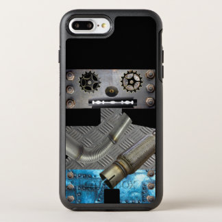 Funda OtterBox Symmetry Para iPhone 8 Plus/7 Plus Caso de Iphone del robot del metal de Sci Fi