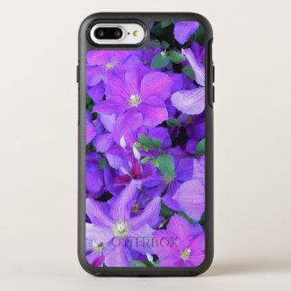 Funda OtterBox Symmetry Para iPhone 8 Plus/7 Plus Clematis violeta hermoso