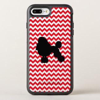 Funda OtterBox Symmetry Para iPhone 8 Plus/7 Plus Coche de bomberos Chevron rojo con la silueta del