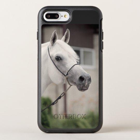 Funda OtterBox Symmetry Para iPhone 8 Plus/7 Plus colección del caballo. blanco árabe