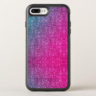 Funda OtterBox Symmetry Para iPhone 8 Plus/7 Plus Colorido brillante floral azul silenciado del rosa