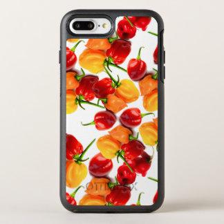 Funda OtterBox Symmetry Para iPhone 8 Plus/7 Plus Comida caliente anaranjada de las pimientas rojas