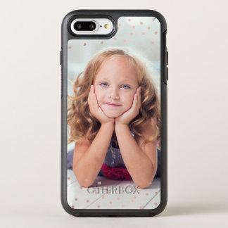 Funda OtterBox Symmetry Para iPhone 8 Plus/7 Plus Confeti del oro y foto color de rosa del
