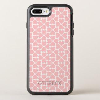 Funda OtterBox Symmetry Para iPhone 8 Plus/7 Plus Corazones del trébol de la hoja del rosa cuatro
