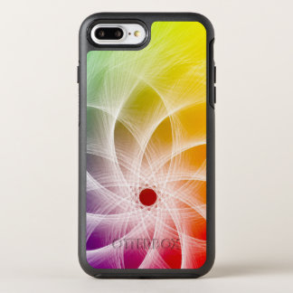 Funda OtterBox Symmetry Para iPhone 8 Plus/7 Plus Diseño colorido del molinillo de viento de Epicly