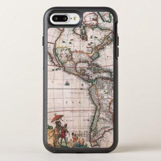 Funda OtterBox Symmetry Para iPhone 8 Plus/7 Plus El mapa de Visscher del nuevo mundo