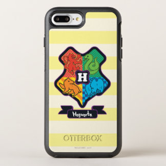Funda OtterBox Symmetry Para iPhone 8 Plus/7 Plus Escudo de Hogwarts del dibujo animado