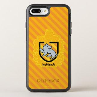 Funda OtterBox Symmetry Para iPhone 8 Plus/7 Plus Escudo de Hufflepuff del dibujo animado