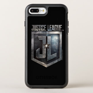 Funda OtterBox Symmetry Para iPhone 8 Plus/7 Plus Escudo metálico de la liga de justicia el | JL