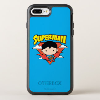 Funda OtterBox Symmetry Para iPhone 8 Plus/7 Plus Escudo y nombre del lunar del superhombre de Chibi