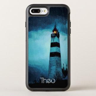 Funda OtterBox Symmetry Para iPhone 8 Plus/7 Plus Faro con la luz por noche en lluvia de colada