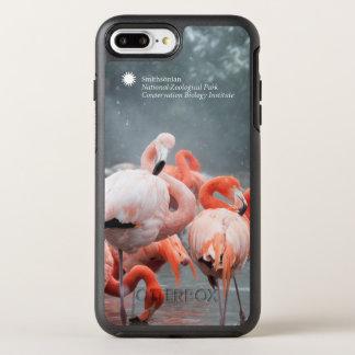 Funda OtterBox Symmetry Para iPhone 8 Plus/7 Plus Flamencos de Smithsonian el   en la nieve