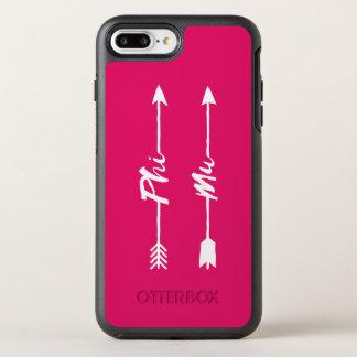 Funda OtterBox Symmetry Para iPhone 8 Plus/7 Plus Flecha de MU de la phi