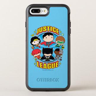 Funda OtterBox Symmetry Para iPhone 8 Plus/7 Plus Grupo de la liga de justicia de Chibi