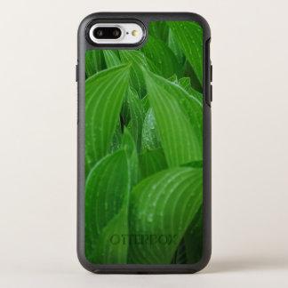 Funda OtterBox Symmetry Para iPhone 8 Plus/7 Plus Hojas del lirio de llantén con las gotas de agua