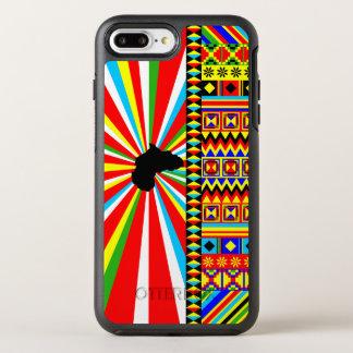 Funda OtterBox Symmetry Para iPhone 8 Plus/7 Plus Impresión africana del modelo del paño de Kente