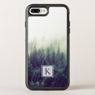 Funda OtterBox Symmetry Para iPhone 8 Plus/7 Plus Inicial elegante moderna del monograma del bosque