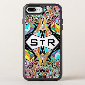 Funda OtterBox Symmetry Para iPhone 8 Plus/7 Plus Iniciales dibujadas mano colorida del monograma