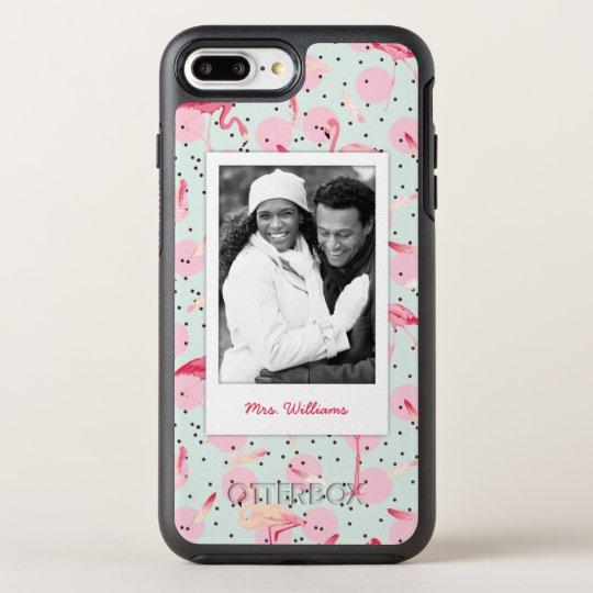 Funda OtterBox Symmetry Para iPhone 8 Plus/7 Plus Las plumas y los lunares el   añaden su foto y la
