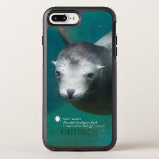 Funda OtterBox Symmetry Para iPhone 8 Plus/7 Plus León marino de Smithsonian el  