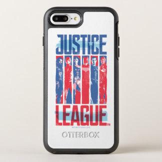 Funda OtterBox Symmetry Para iPhone 8 Plus/7 Plus Liga de justicia arte pop azul y rojo del | del