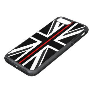 Funda OtterBox Symmetry Para iPhone 8 Plus/7 Plus Línea roja fina bandera de Reino Unido