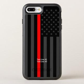 Funda OtterBox Symmetry Para iPhone 8 Plus/7 Plus Línea roja fina símbolo de la bandera americana su