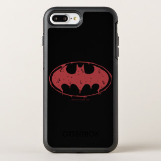 Funda OtterBox Symmetry Para iPhone 8 Plus/7 Plus Logotipo de exudación del palo rojo de Batman el |