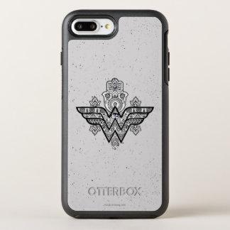 Funda OtterBox Symmetry Para iPhone 8 Plus/7 Plus Logotipo espiritual de Paisley Hamsa de la Mujer