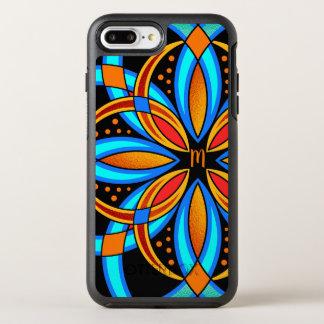 Funda OtterBox Symmetry Para iPhone 8 Plus/7 Plus mandala anaranjada azul del arte digital con