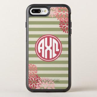 Funda OtterBox Symmetry Para iPhone 8 Plus/7 Plus Modelo alfa de la raya del monograma de Omega el |