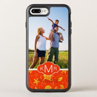Funda OtterBox Symmetry Para iPhone 8 Plus/7 Plus Modelo anaranjado de la playa del monograma el |