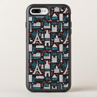 Funda OtterBox Symmetry Para iPhone 8 Plus/7 Plus Modelo de los símbolos de Francia el |