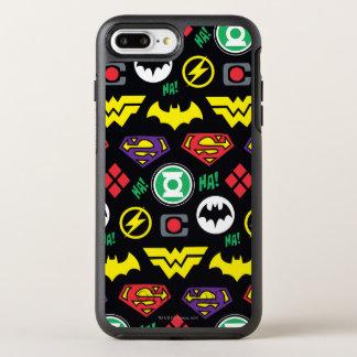 Funda OtterBox Symmetry Para iPhone 8 Plus/7 Plus Modelo del logotipo de la liga de justicia de