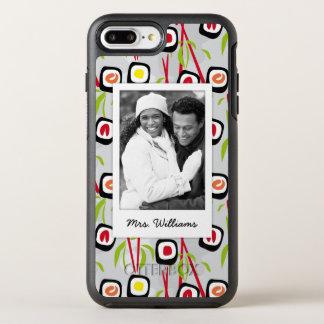 Funda OtterBox Symmetry Para iPhone 8 Plus/7 Plus Monograma del modelo el | del diseño del sushi