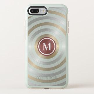 Funda OtterBox Symmetry Para iPhone 8 Plus/7 Plus Monograma fresco del modelo de la raya del oro de