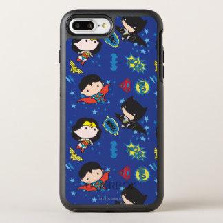 Funda OtterBox Symmetry Para iPhone 8 Plus/7 Plus Mujer Maravilla de Chibi, superhombre, y modelo de