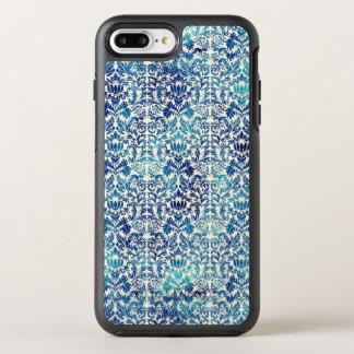 Funda OtterBox Symmetry Para iPhone 8 Plus/7 Plus Niágara y damasco azul de Shibori del batik de