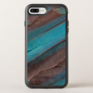 Funda OtterBox Symmetry Para iPhone 8 Plus/7 Plus Plumas del ala del martín pescador