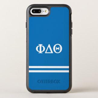 Funda OtterBox Symmetry Para iPhone 8 Plus/7 Plus Raya del deporte de la theta el | del delta de la