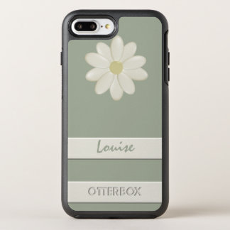 Funda OtterBox Symmetry Para iPhone 8 Plus/7 Plus Raya más de la flor de la margarita del iPhone 8