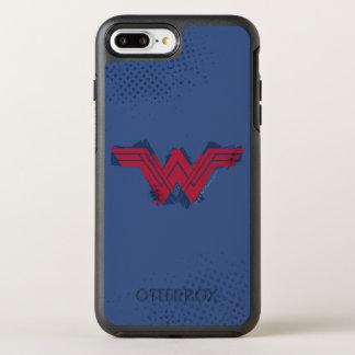 Funda OtterBox Symmetry Para iPhone 8 Plus/7 Plus Símbolo cepillado el | de la Mujer Maravilla de la