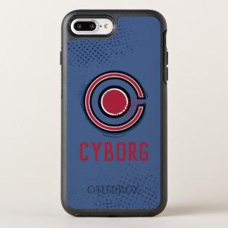 Funda OtterBox Symmetry Para iPhone 8 Plus/7 Plus Símbolo del Cyborg del cepillo y del tono medio de