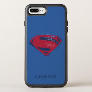 Funda OtterBox Symmetry Para iPhone 8 Plus/7 Plus Símbolo del superhombre del cepillo y del tono