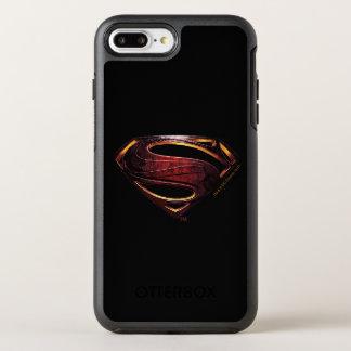Funda OtterBox Symmetry Para iPhone 8 Plus/7 Plus Símbolo metálico del superhombre de la liga de