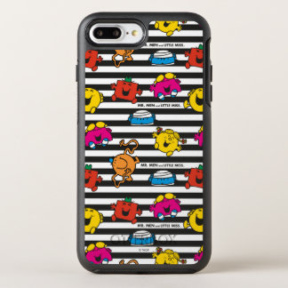 Funda OtterBox Symmetry Para iPhone 8 Plus/7 Plus Sr. Men y pequeño modelo de las rayas de la Srta.