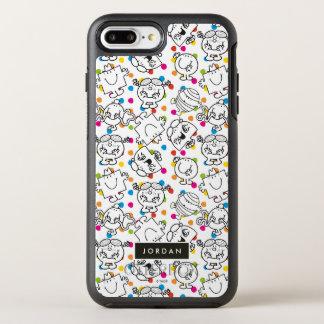 Funda OtterBox Symmetry Para iPhone 8 Plus/7 Plus Sr. Men y pequeño modelo de lunares del arco iris